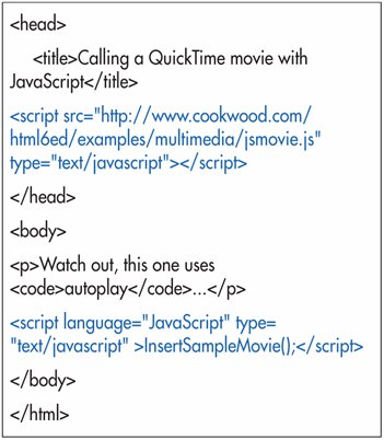 Using JavaScript to Call a Movie
