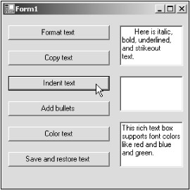 Indenting Text in Rich Text Boxes