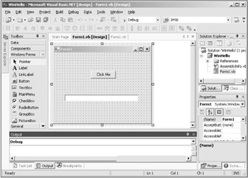 The Visual Basic Integrated Development Environment